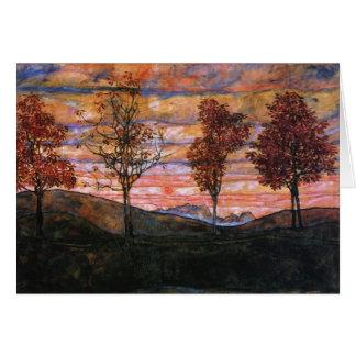 Four Trees Card