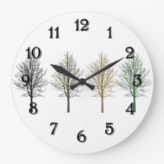 Four Trees Wall Clock