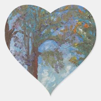 Four Trees Heart Sticker