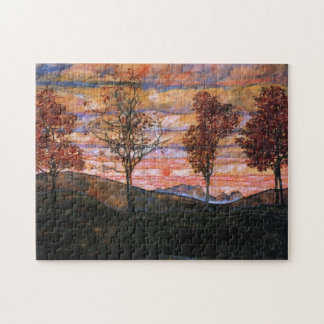Four Trees Jigsaw Puzzle