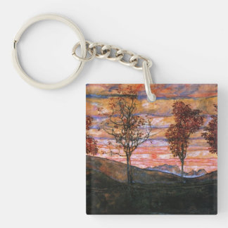 Four Trees Keychain