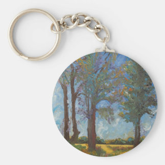 Four Trees Basic Round Button Keychain