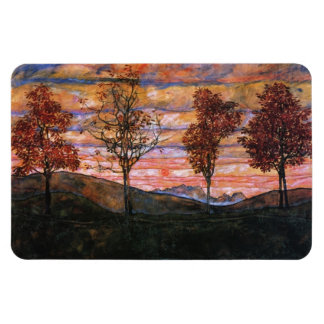 Four Trees Magnet