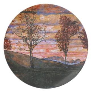 Four Trees Melamine Plate
