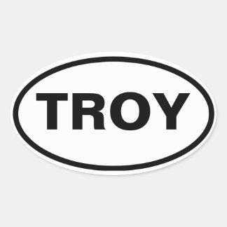 FOUR Troy, Alabama Oval Sticker
