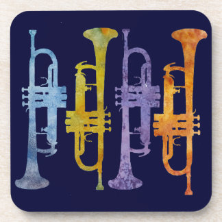 Four Trumpets Drink Coasters
