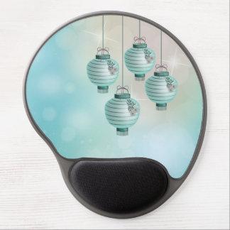 Four turquoise lanterns gel mouse pad