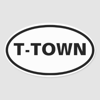 "FOUR Tuscaloosa ""T-Town"" Oval Sticker"