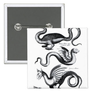 Four types of dragon pinback button