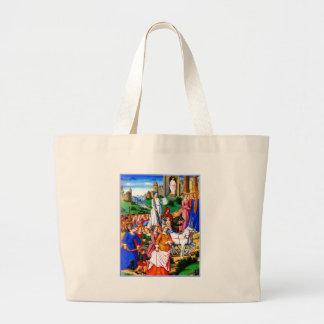 """Four Unicorns lead the Procession"" Canvas Bag"