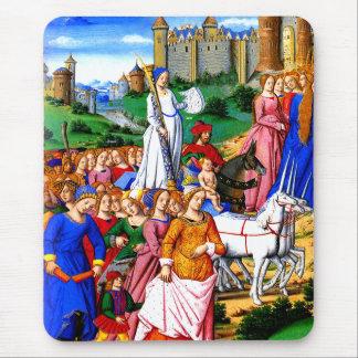 """Four Unicorns lead the Procession"" Mouse Mat"