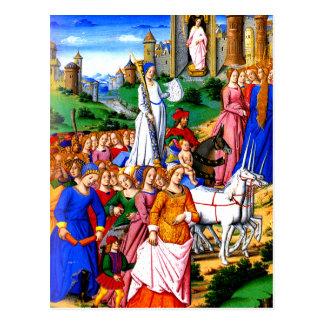 """Four Unicorns lead the Procession"" Postcard"