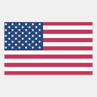 FOUR USA National Flag Rectangular Stickers