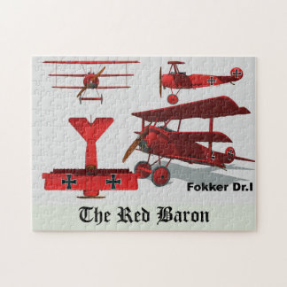 "Four Views of The Fokker ""Red Baron"" Jigsaw Puzzle"