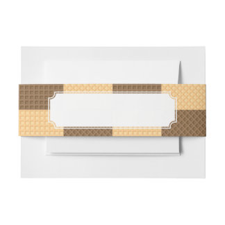 Four Wafers Invitation Belly Band