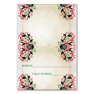Four Watercolor Bouquets - Escort Card