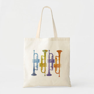 Four Watercolor Trumpets Tote Bag