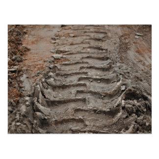 Four Wheel Drive Mud Track Postcard