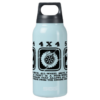 Four Wheel Drive or All Wheel Drive or AWD or 4WD Insulated Water Bottle