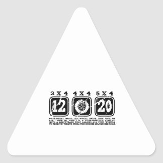 Four Wheel Drive or All Wheel Drive or AWD or 4WD Triangle Sticker
