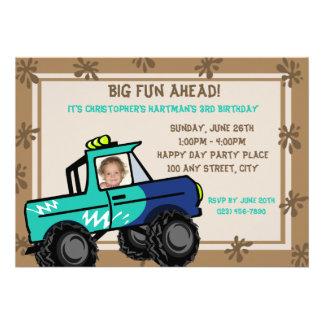 Four Wheel Fun/ Birthday Personalized Invites