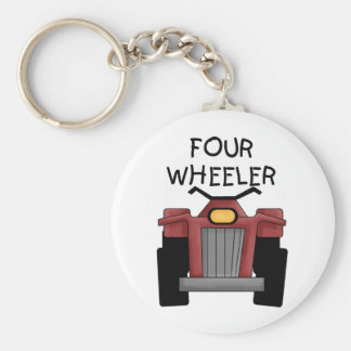 Four Wheeler Tshirts and Gifts Basic Round Button Keychain