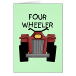 Four Wheeler Tshirts and Gifts Greeting Card