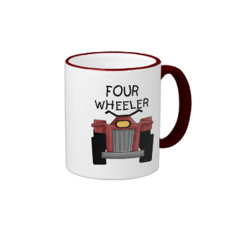 Four Wheeler Tshirts and Gifts Ringer Coffee Mug
