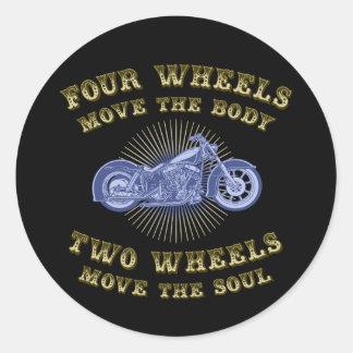Four Wheels III Classic Round Sticker