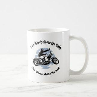 Four Wheels III Classic White Coffee Mug