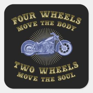 Four Wheels III Square Sticker