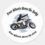 Four Wheels III Sticker