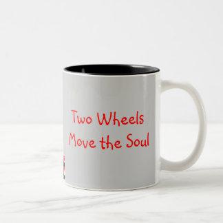 Four Wheels Move the Body, ... Two-Tone Coffee Mug