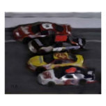 Four Wide NASCAR Prints Poster
