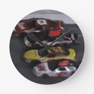 Four Wide Wall Clock