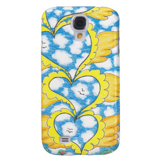 FOUR WINGED HEARTS by Ruth I. Rubin Samsung Galaxy S4 Cases