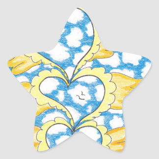 FOUR WINGED HEARTS by Ruth I. Rubin Star Stickers