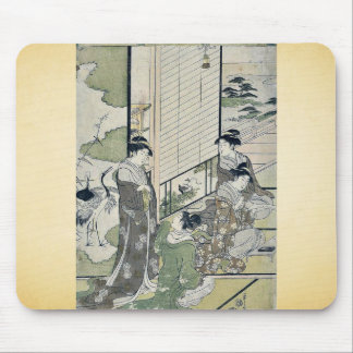 Four women composing poetry by Hosoda,Eishi Mouse Pad