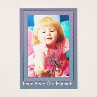Four Year Old  Girl's Birthday Photo Cards