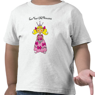 Four Year Old Princess Tees