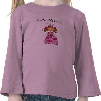 Four Year Old Princess Tshirts