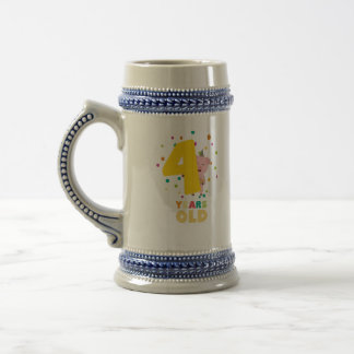 Four Years old fourth Birthday Party Zpkhc Beer Stein