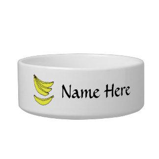 Four Yellow Bananas. Bowl