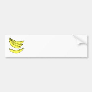 Four Yellow Bananas. Car Bumper Sticker