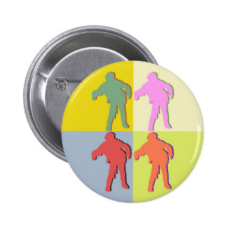Four Zombies Style 2 Inch Round Button