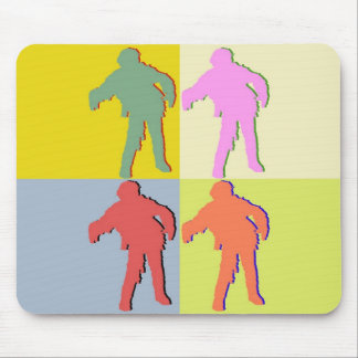 Four Zombies Style Mouse Pad