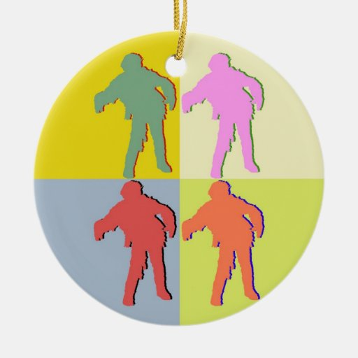 Four Zombies Style Ornament! Ceramic Ornament