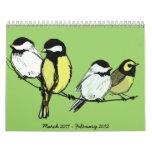 fourcalling-birds, March 2011 - February 2012 Calendar