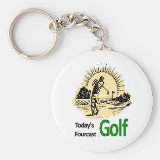 "Fourcast de hoy ""golf "" llavero personalizado"