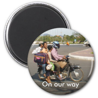Four's Company ... On Our Way 2 Inch Round Magnet